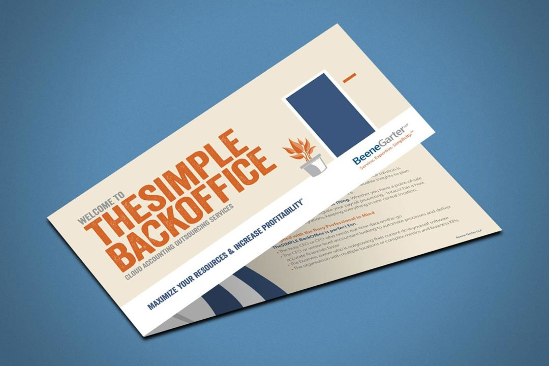 Beene Garter Simple Back Office Brochure