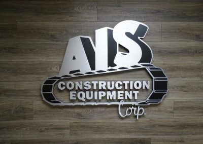 AIS Construction Equipment Interior Sign