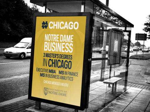 Notre Dame – Mendoza College Of Business Bus Sign