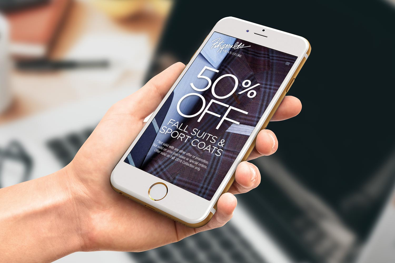 Fitzgeralds Men's Store Mobile Web Design and Digital Marketing