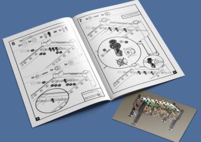 Carrom Foosball Instruction Booklet