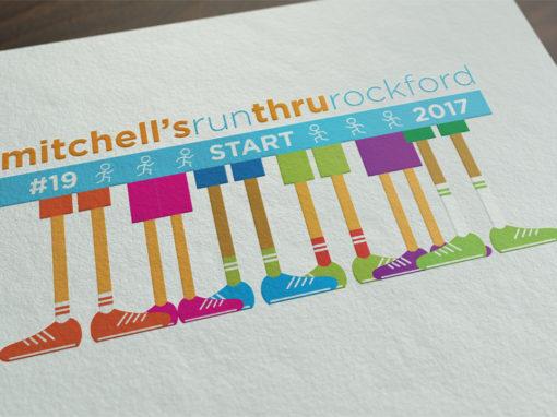 Mitchell's Run Through Rockford Logo