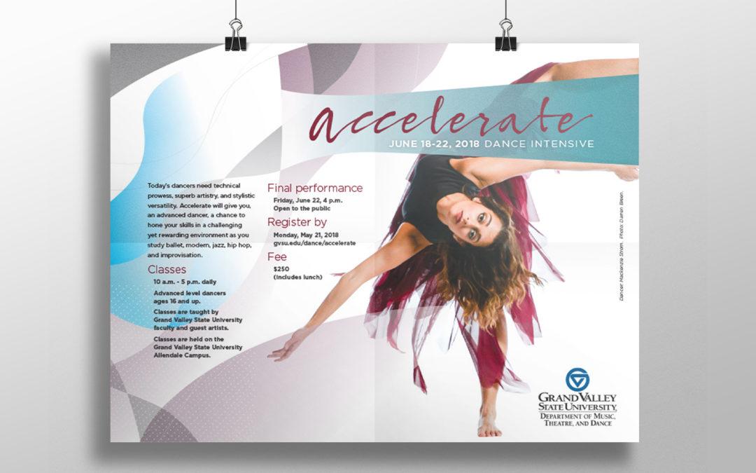 GVSU Summer Dance Intensive Poster