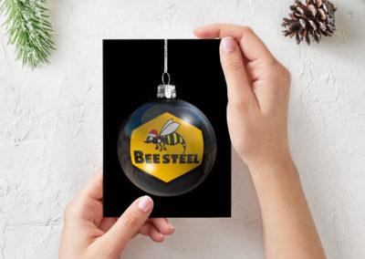Bee Steel Holiday Card