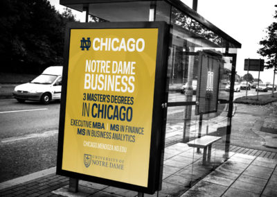 University of Notre Dame Chicago Signage