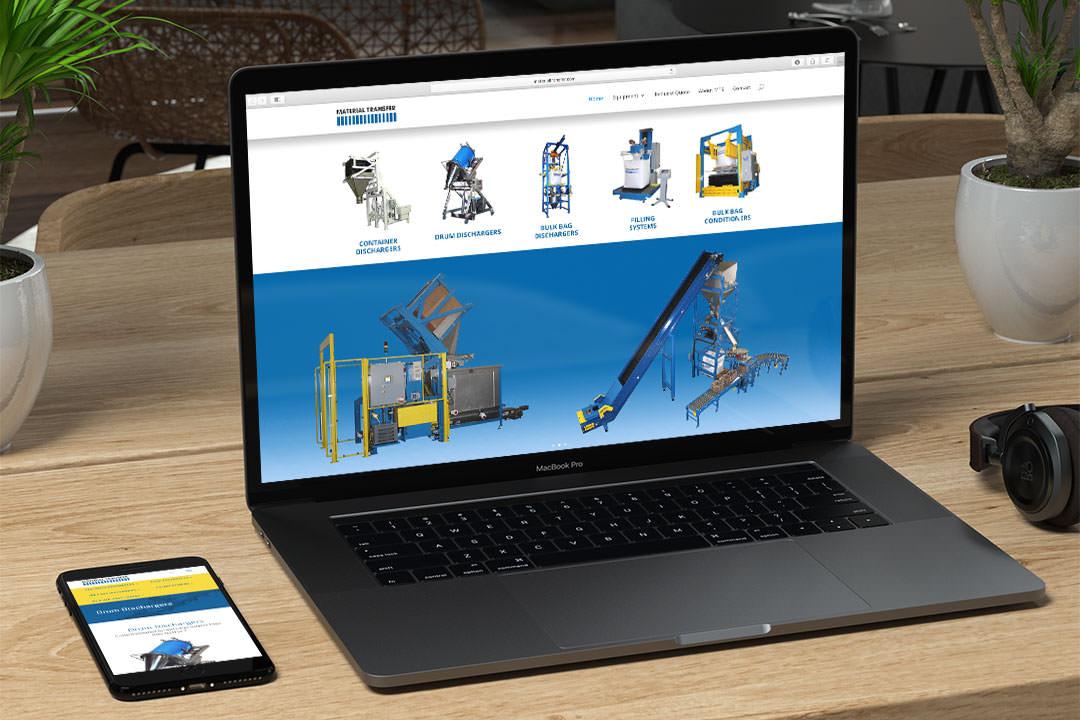 Material Transfer Desktop Web Design and Digital Marketing