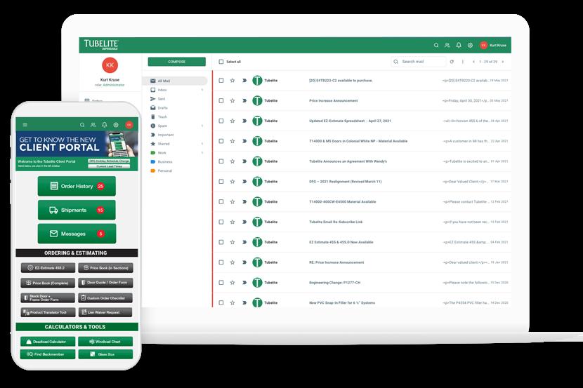 Tubelite Client Portal