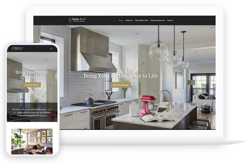 Studio A&C Mobile and Responsive Website